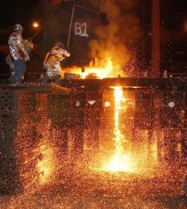Steel foundry wikimedia